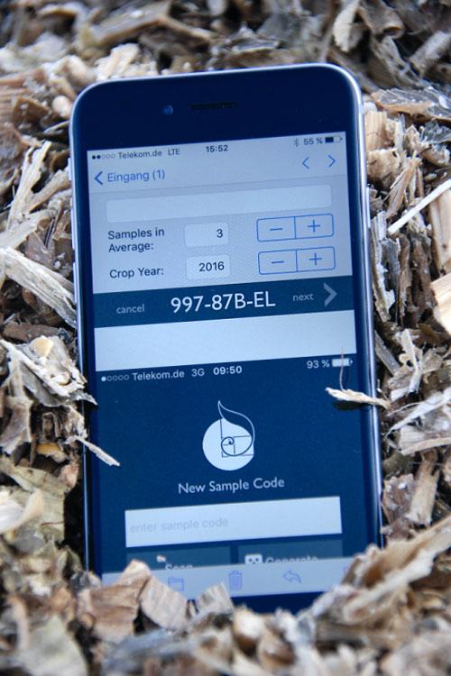 Die FeedScan App erlaubt die Beauftragung von Proben und damit papierlos zu arbeiten.