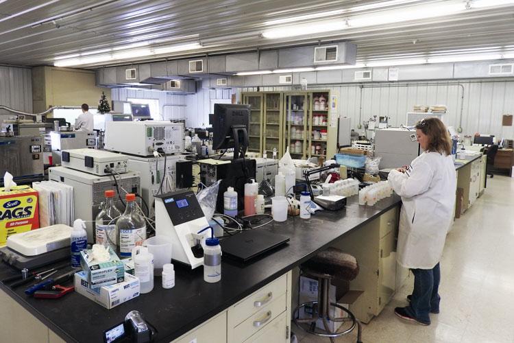 Blick in das Analyselabor